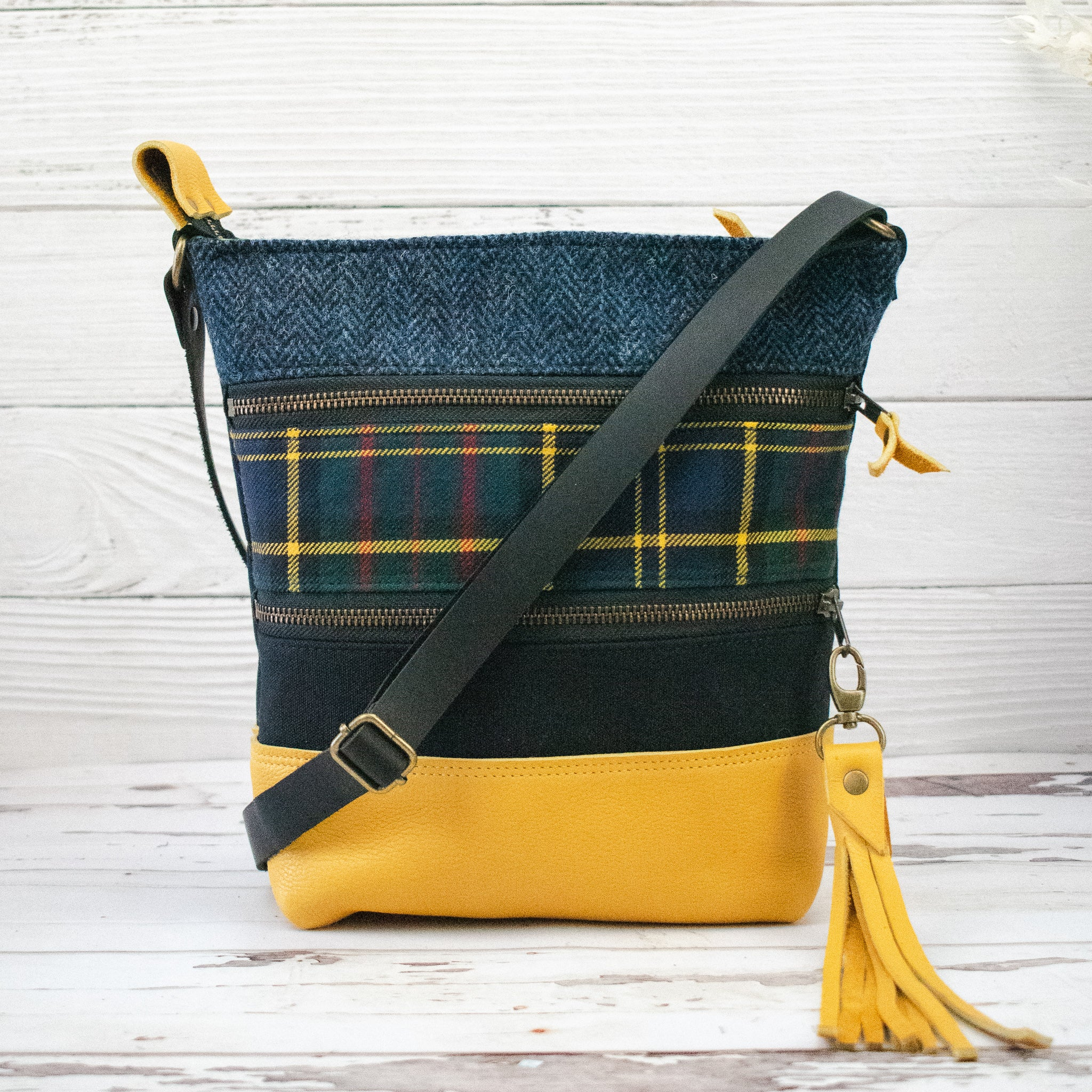 Tweed and Tartan Crossbody Bag - The MacMillan