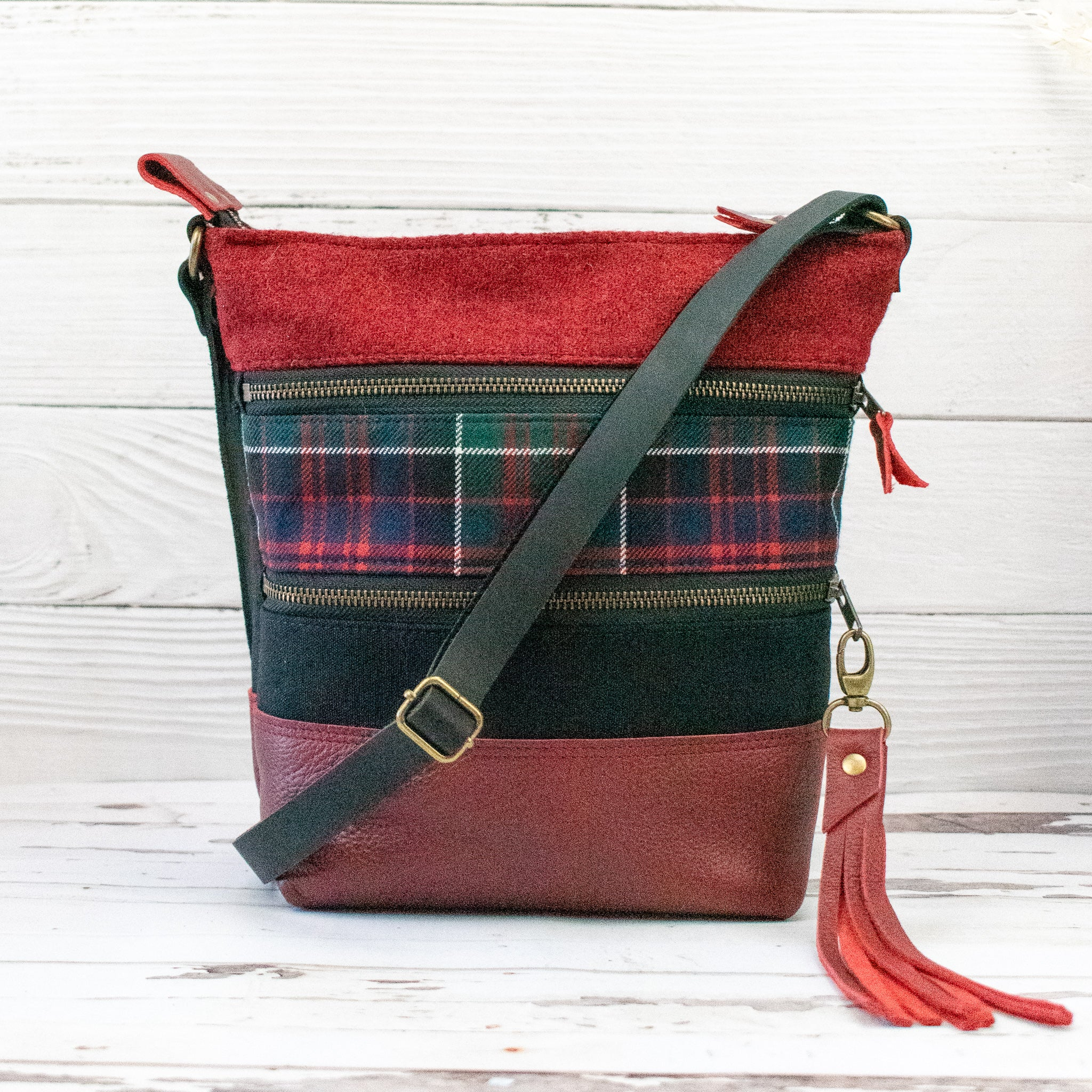 Tweed and Tartan Crossbody Bag - The MacDonald of Clanranald