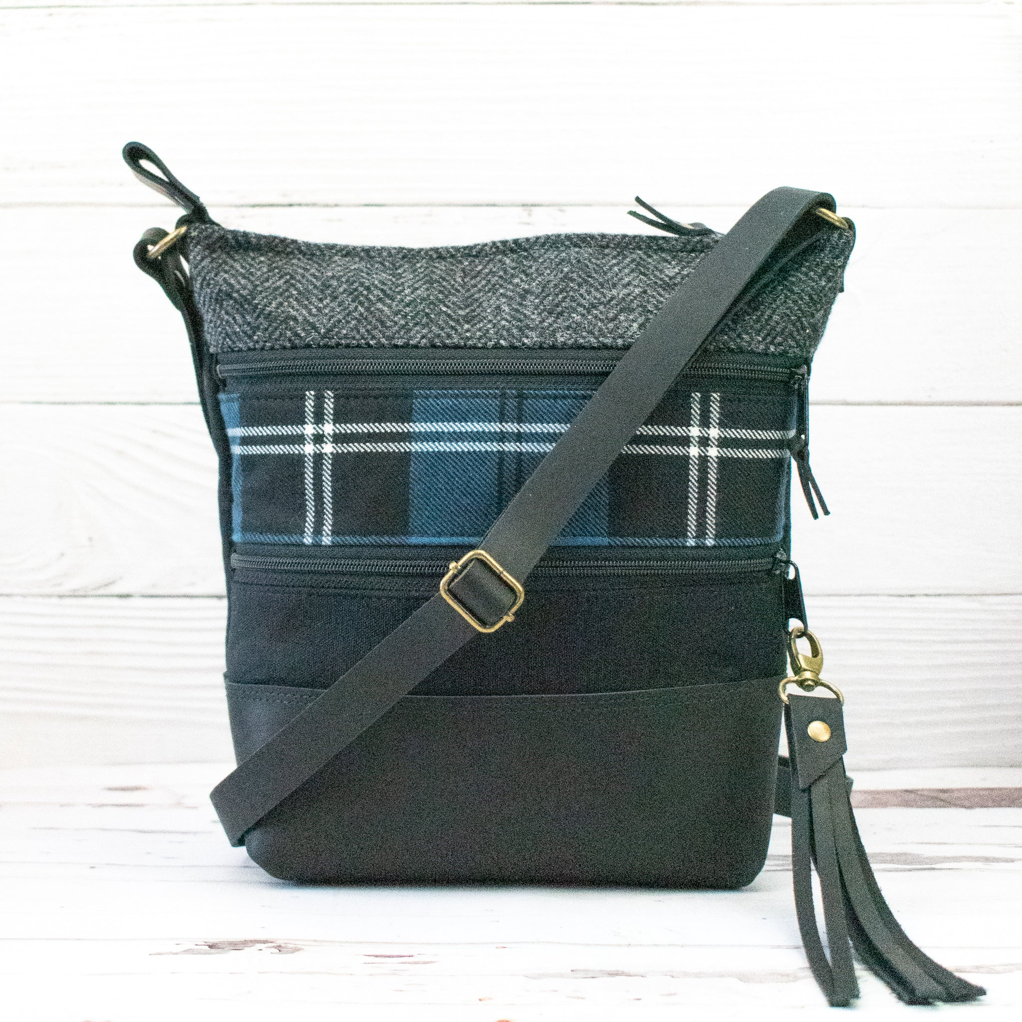 Tweed and Tartan Crossbody Bag - The Ramsay