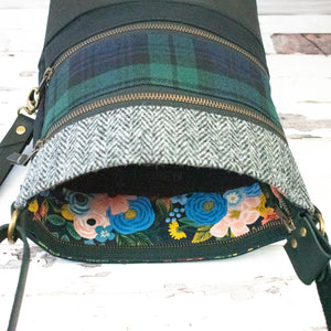 Tweed and Tartan Crossbody Bag - The Black Watch