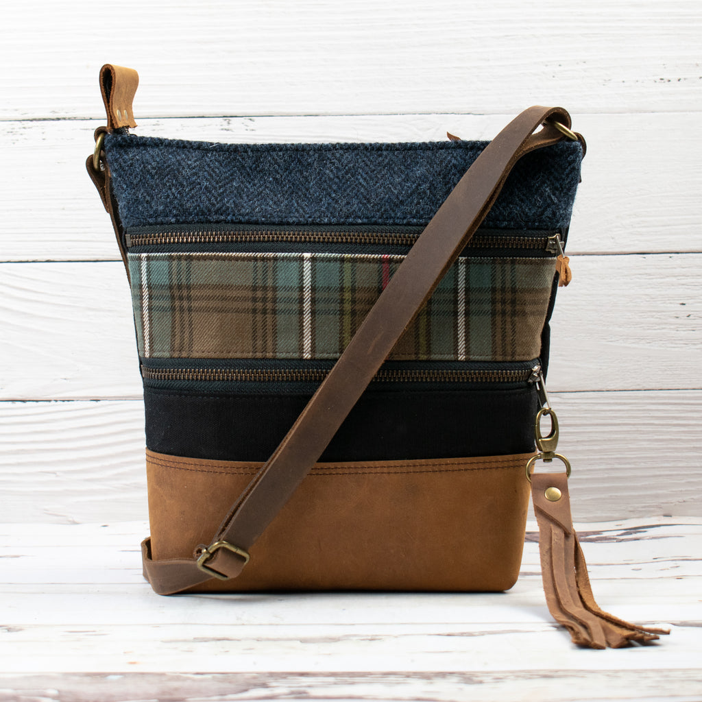 Tweed and Tartan Crossbody Bag - The Cockburn