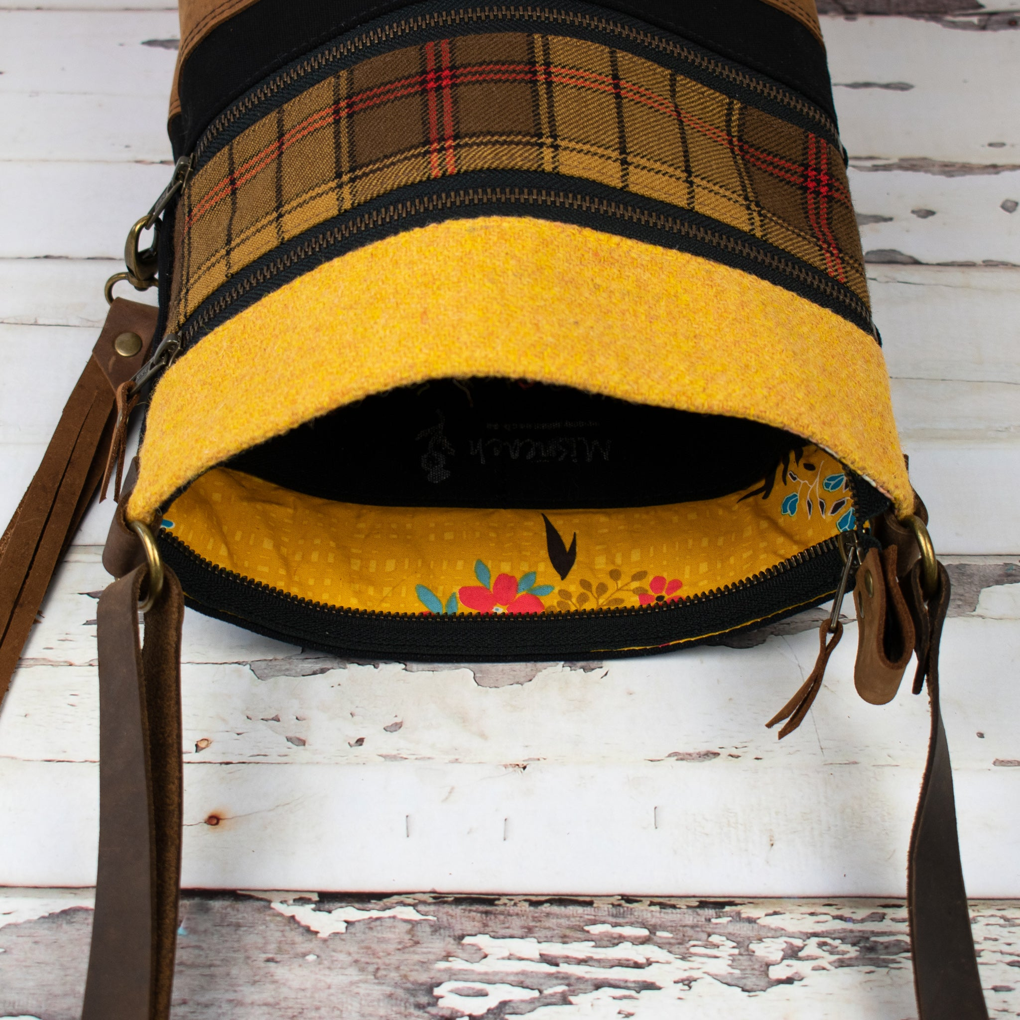 Tweed and Tartan Crossbody Bag - The Ulster