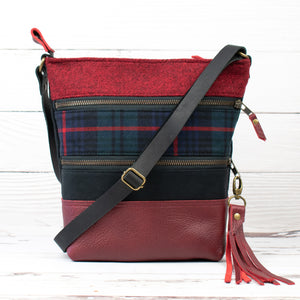 Tweed and Tartan Crossbody Bag - The Armstrong