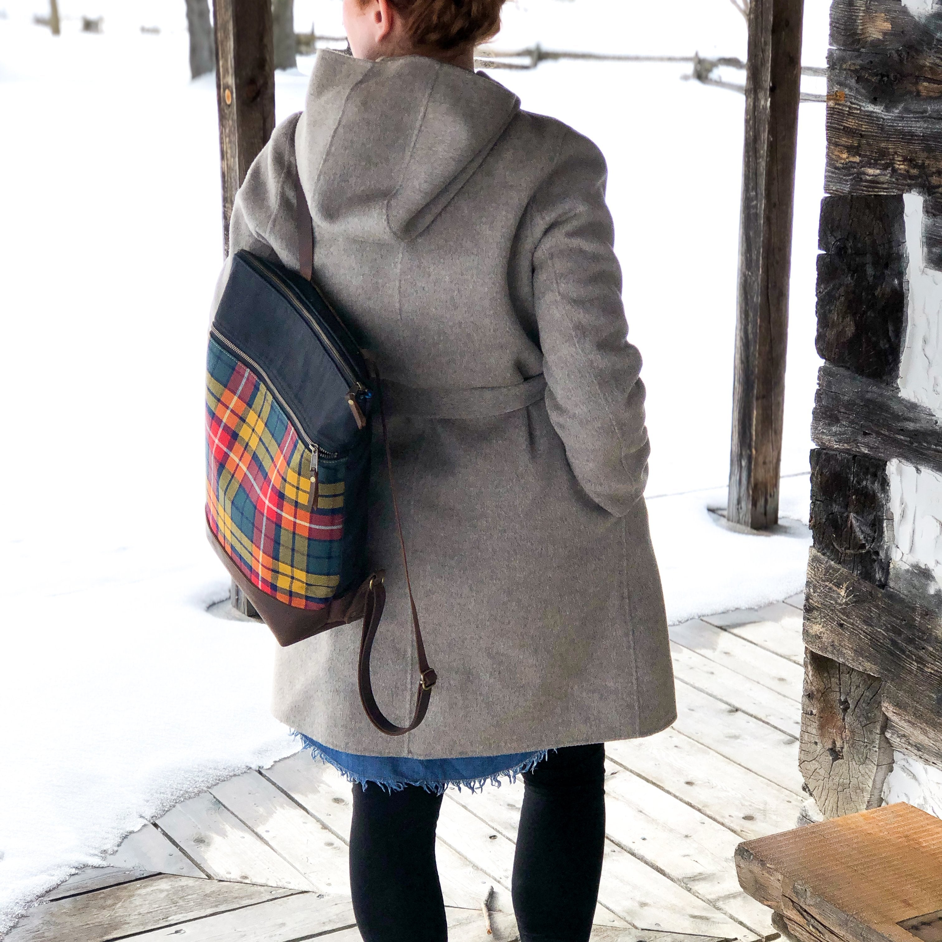 Buchanan tartan backpack lifestyle photo