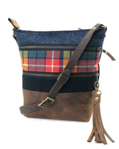 Tweed and Tartan Crossbody Bag - The Buchanan