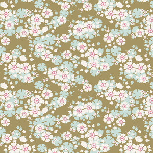"Tilda ""Woodland - Aster in Olive"" Quilt Collection Fabric by Tone Finnanger"