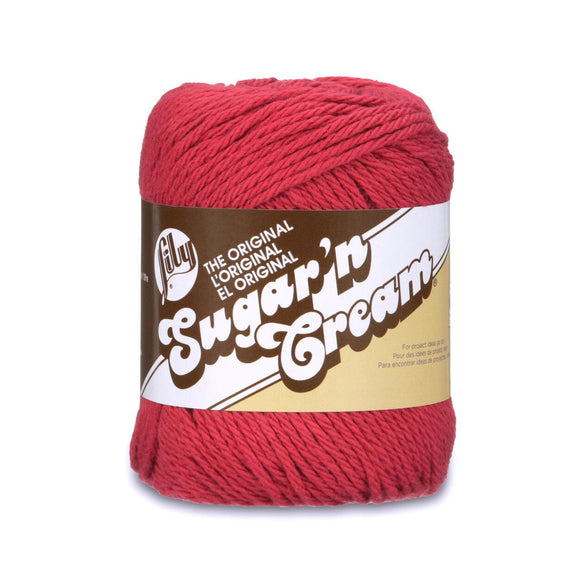 Yarnspirations Lily Sugar'n Cream Cotton Yarn Medium Worsted Weight Solid Colours 71g - See Options