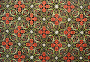 "The Textile Pantry ""Melba Collection - Kaleidoscope Print in Black/Orange"" Fabric by Leesa Chandler"
