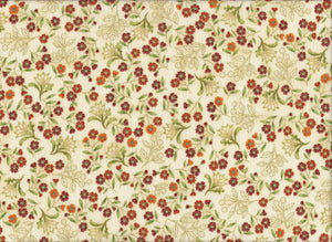 "The Textile Pantry ""Melba Collection - Floral Print in Orange"" Fabric by Leesa Chandler"