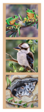 "Devonstone Collection ""Wildlife Art - Frog, Kookaburra and Possums"" Australiana Fabric Panels by Natalie Jane Parker"