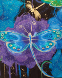 "Timeless Treasures of SOHO LLC Fabrics ""Moonlit Collection - Fly by Night Dragonfly Panel"" by Chong-a Hwang"