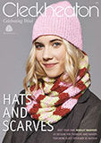 "Cleckheaton ""Hats and Scarves"" Knitting Pattern Book featuring guest designer Jo Nathan."