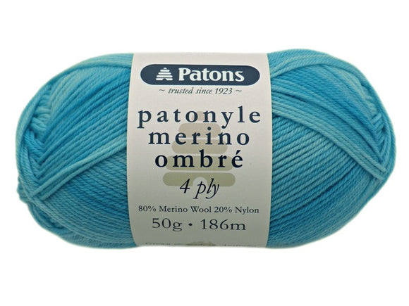 Patons Patonyle Merino Ombre 4 Ply 50g - See Options