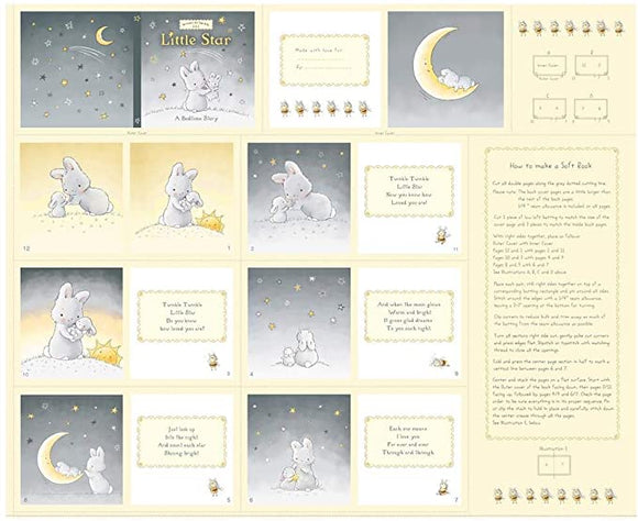 Timeless Treasures - Bunnies by the Bay Little Star Bedtime Story Book Panel