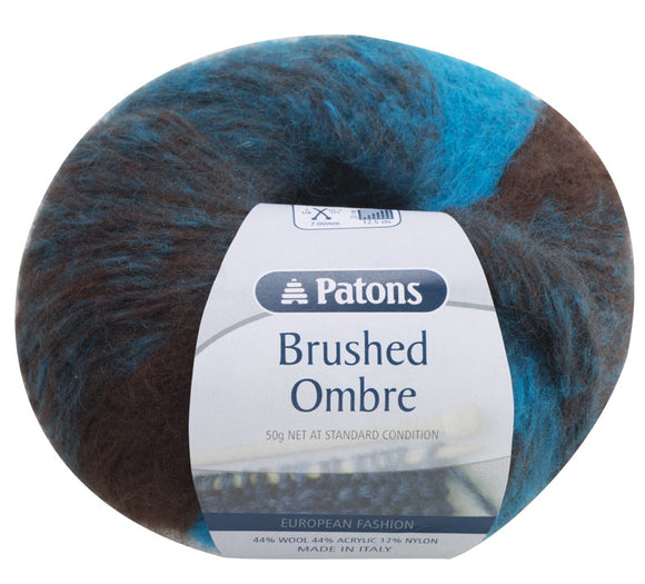 Sale! Patons Brushed Ombre 12 Ply Yarn 50g - See Options