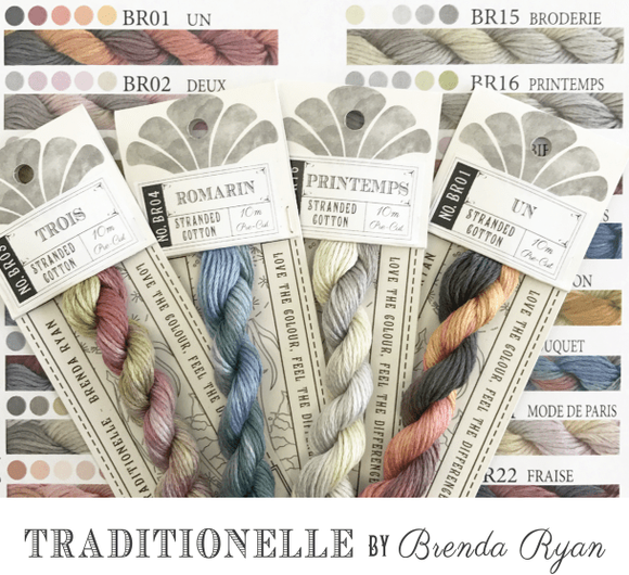 Cottage Garden Threads for Hand Stitching and Embroidery 100% Cotton - Traditionelle Range by Brenda Ryan - See Options