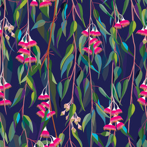 "Devonstone Collection ""Eucalyptus Bloom in Blue"" from Orenda Joy Green Fabric Collection"