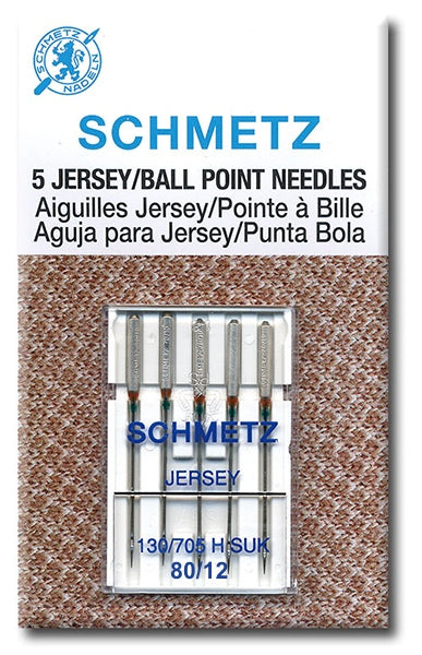 Schmetz Needles - Jersey/Ball Point 130/705H-SUK Size 80/12 for Machine Stitching