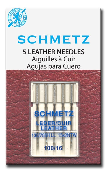 Schmetz Needles - Leather 130/705H-LL Size 100/16 for Machine Stitching