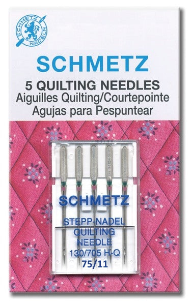 Schmetz Needles - Quilting 130/705H-Q Size 75/11 for Machine Stitching