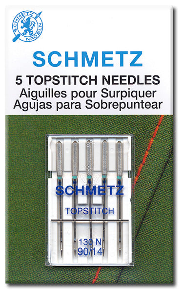 Schmetz Needles - Topstitch 130/705H-N Size 80/12 for Machine Stitching