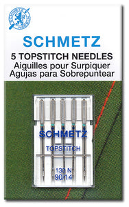 Schmetz Needles - Topstitch 130/705H-N Size 90/14 for Machine Stitching