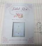 "Faded Rose Designs ""Winter White Embroidery"" Pattern with Swarovski Crystal Elements by Angela Watson"