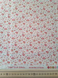 "Tilda ""Cabbage Rose - Tilly Red"" Quilt Collection Fabric by Tone Finnanger"