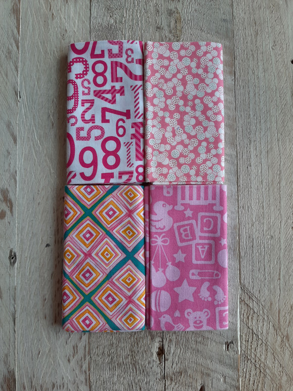 Fat Quarter Fabric Pack - Pinks 2