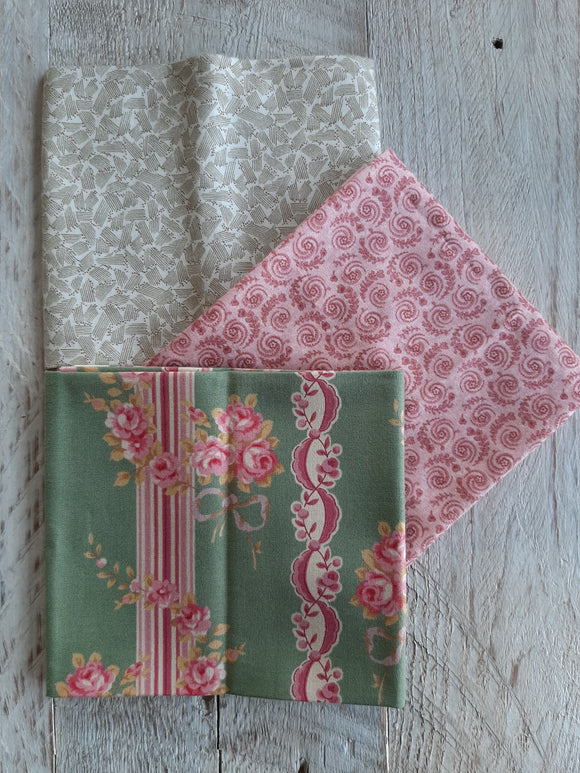 Fat Quarter Fabric Pack - Shabby Rose