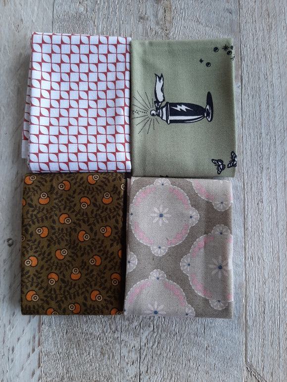 Fat Eighth Fabric Pack - Mostly Green