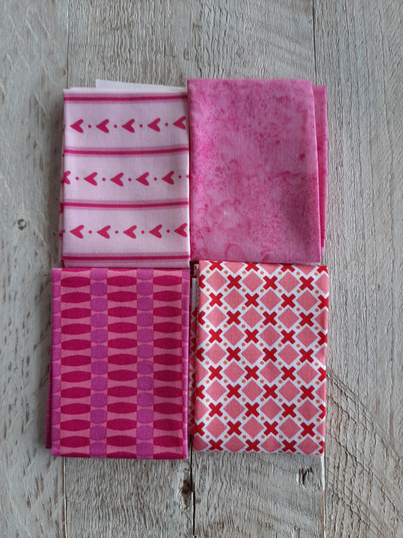Fat Eighth Fabric Pack - Pink 1