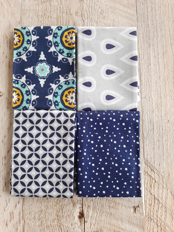 Fat Eighth Fabric Pack - Blue 1