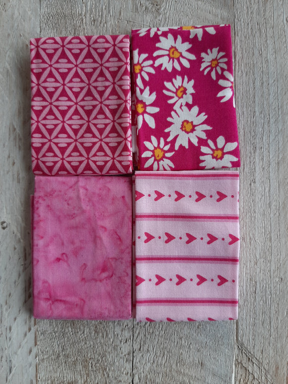 Fat Eighth Fabric Pack - Pink 2