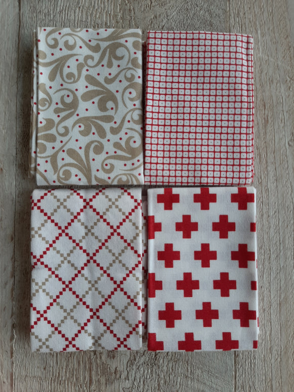 Fat Eighth Fabric Pack - Reds