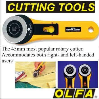 Olfa Rotary Cutter 45mm With Bonus Olfa Replacement Blade