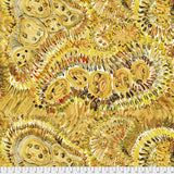 "Free Spirit Fabrics - Denise Burkitt Fancy Free ""Sweet Honey in Yellow"""