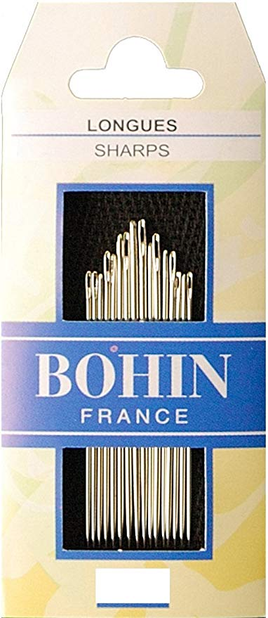 Bohin Sharps Longues Needles for Hand Stitching Assorted Size 3/9