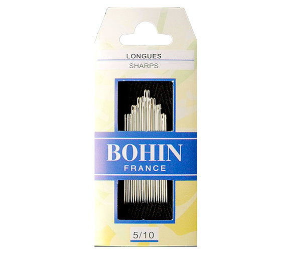 Bohin Sharps Longues Needles for Hand Stitching Assorted Size 5/10