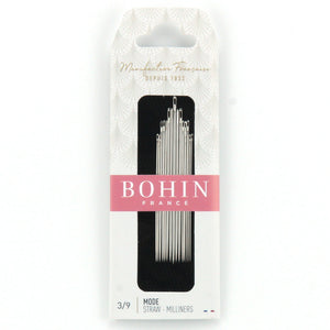 Bohin Straw/Milliners Needles for Hand Stitching Assorted Size 3/9