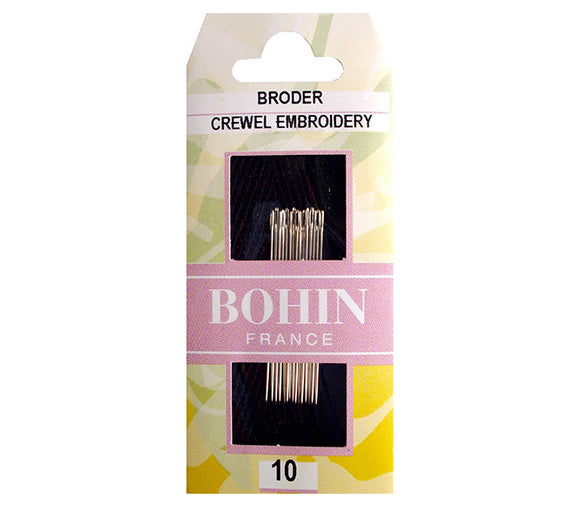 Bohin Crewel Embroidery Broder Needles for Hand Stitching Size 10