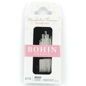 Bohin Crewel Embroidery Broder Needles for Hand Stitching Assorted Size 3/9