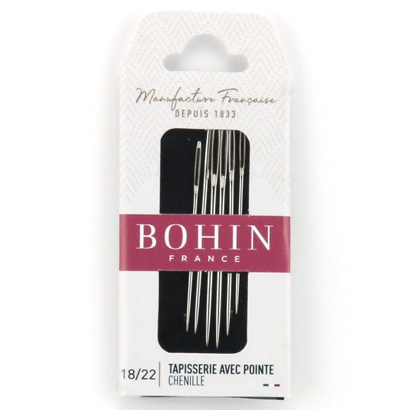 Bohin Chenille Tapisserie Avec Pointe Needles for Hand Stitching Assorted Sizes 18/22
