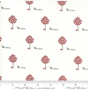 "Moda Fabrics + Supplies ""101 Maple Street - Marshmallow Cream/Red"" by Bunny Hill Designs"