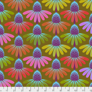 "Free Spirit Fabrics - Hindsight ""Fresh Echinacea in Autumn"" by Anna Maria Horner"