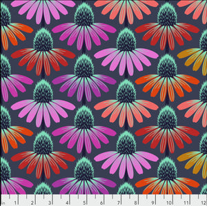 "Free Spirit Fabrics - Hindsight ""Fresh Echinacea in Glow"" by Anna Maria Horner"