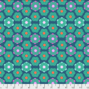 "Free Spirit Fabrics - Hindsight ""Honeycomb in Denim"" by Anna Maria Horner"