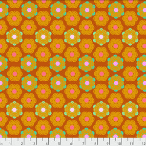 "Free Spirit Fabrics - Hindsight ""Honeycomb in Sunset"" by Anna Maria Horner"