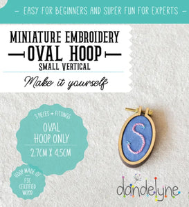 Dandelyne Small Vertical Hoop with Necklace