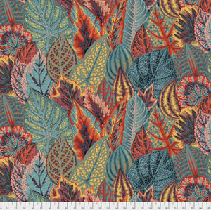 "Free Spirit Fabrics - Kaffe Fassett Collective ""Coleus in Teal"" by Phillip Jacobs"